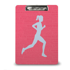 Running Custom Clipboard Running Inspiration Female