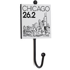 Running Medal Hook - Chicago Skyline