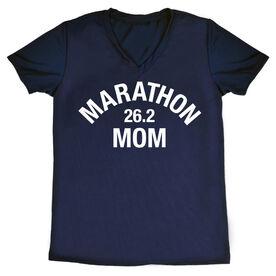Women's Running Short Sleeve Tech Tee - Marathon 26.2 Mom