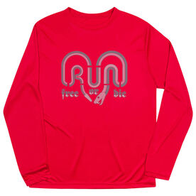 Men's Running Long Sleeve Tech Tee - Run Free Or Die Snake