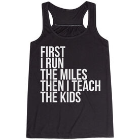 Flowy Racerback Tank Top - Then I Teach The Kids