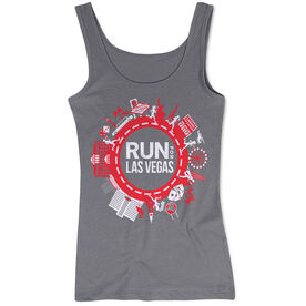 Running Women's Athletic Tank Top - Run for Las Vegas