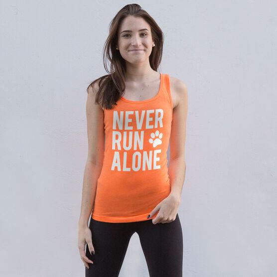 Women's Athletic Tank Top - Never Run Alone (Bold)