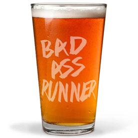 Running 20 oz Beer Pint Glass Bad Ass Runner