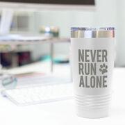 Running 20oz. Double Insulated Tumbler - Never Run Alone (Bold)
