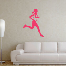 Runner Girl Removable GoneForARunGraphix Wall Decal