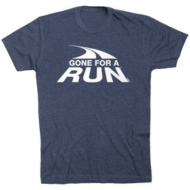 Running Short Sleeve T- Shirt - Gone For a Run White Logo (VR)