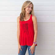 Flowy Racerback Tank Top - Life's Short. Let's Run!