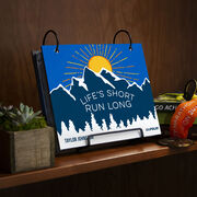 BibFOLIO® Race Bib Album - Life's Short Run Long (Mountains)