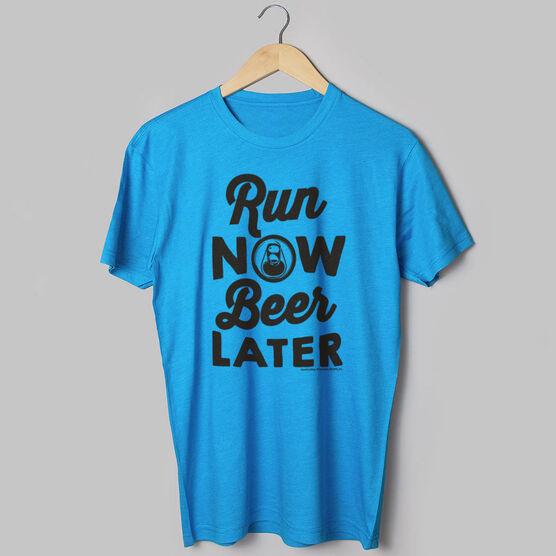 Running Short Sleeve T-Shirt - Run Club Run Now Beer Later