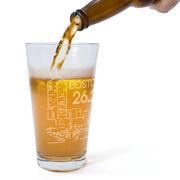 Running 16 oz Beer Pint Glass - Boston Sketch