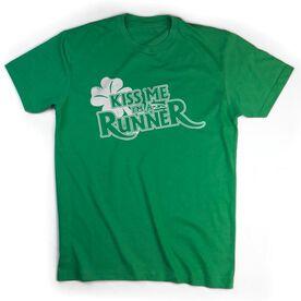 Running Short Sleeve T-Shirt - Kiss Me I'm A Runner (Distressed)
