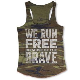 Running Camouflage Racerback Tank Top - We Run Free