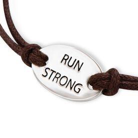 Run Strong Sterling Silver Cord Bracelet
