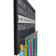 Running Large Hooked on Medals Hanger - Chalkboard What Lies Behind You