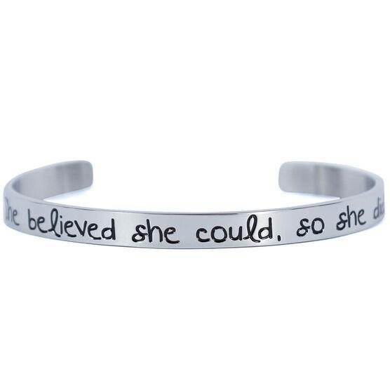 She Believed She Could Cuff Bracelet