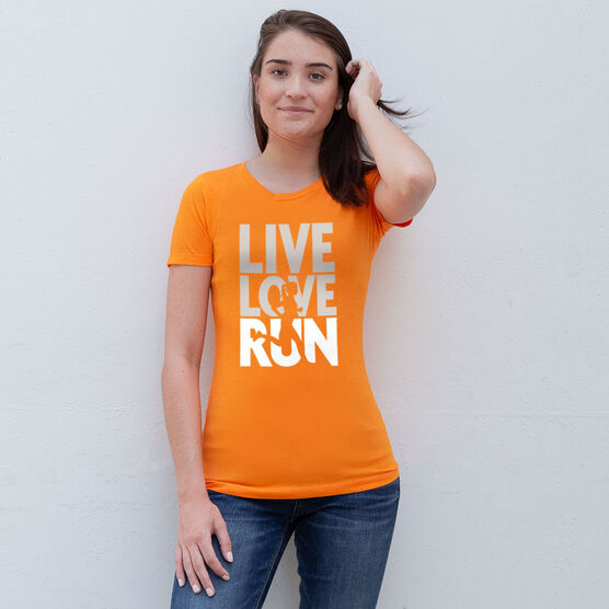 Women's Everyday Runners Tee - Live Love Run Silhouette