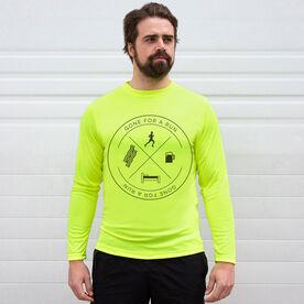 Men's Running Long Sleeve Tech Tee - Daily Routine