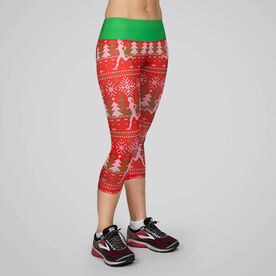 Running Performance Capris With Zipper Pocket - Ugly Sweater