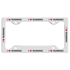 I Heart Running... License Plate Holder