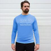 Men's Running Long Sleeve Tech Tee - Marathoner 26.2 Miles