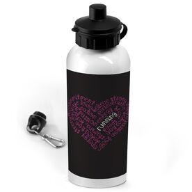 Running 20 oz. Stainless Steel Water Bottle Running Inspiration Heart