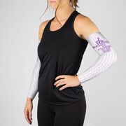 Running Printed Arm Sleeves - She Believed She Could So She Did