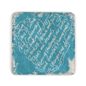 Running Stone Coaster Running Heart Inspiration