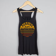 Flowy Racerback Tank Top - Running is My Sunshine