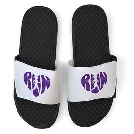 Running White Slide Sandals - Love The Run