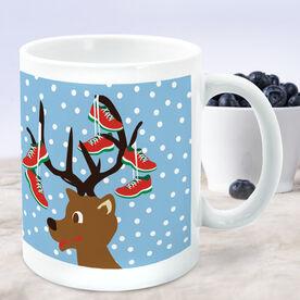 Running Coffee Mug - Reindeer Running Shoes