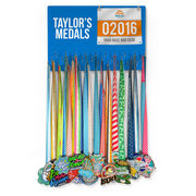Running Large Hooked on Medals and Bib Hanger - Customize Me