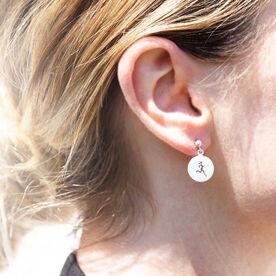 Livia Collection Sterling Silver Matte Runner Girl Earrings