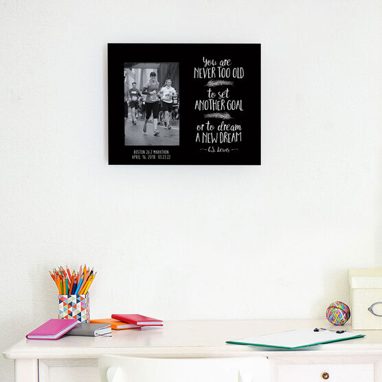 Running Photo Frame - You Are Never Too Old
