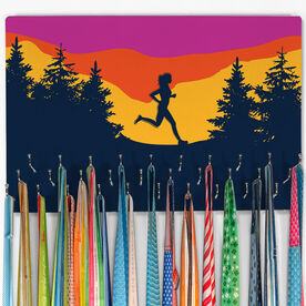 Running Large Hooked on Medals Hanger - Happy Hour