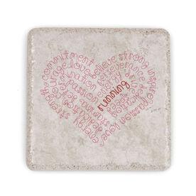 Running Stone Coaster - Inspiration Heart