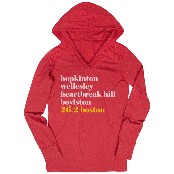 Women's Running Lightweight Performance Hoodie - Run Mantra - Boston