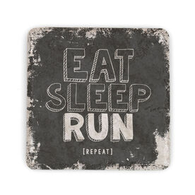 Running Stone Coaster Eat Sleep Run Repeat