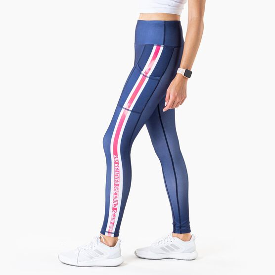 Women's Performance Side Pocket Tights - She Believed She Could