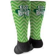 Running Printed Mid-Calf Socks - Kiss Me I'm A Runner