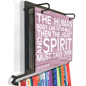 BibFOLIO+™ Race Bib and Medal Display The Human Body (Rustic)