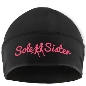 Run Technology Beanie Performance Hat - Sole Sister With Silhouettes