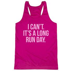 Women's Racerback Performance Tank Top - Long Run Day