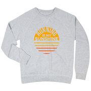 Running Raglan Crew Neck Sweatshirt - Running is My Sunshine