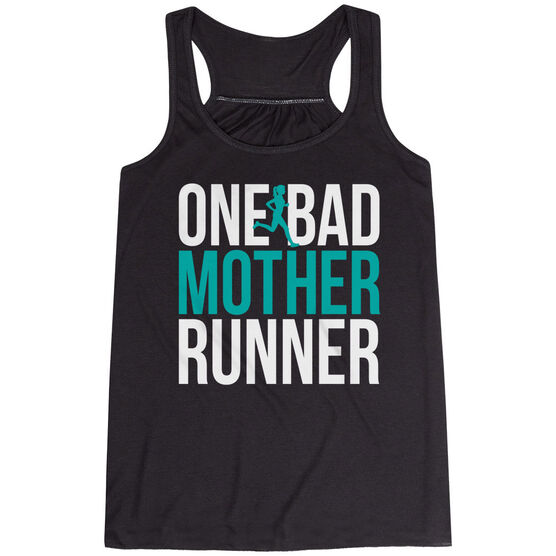 Flowy Racerback Tank Top - One Bad Mother Runner (Bold)