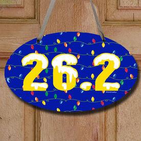 26.2 Christmas Lights Decorative Oval Sign