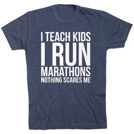 Running Short Sleeve T-Shirt - I Teach Kids I Run Marathons