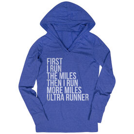 Women's Running Lightweight Performance Hoodie - Then I Run More Miles Ultra Runner