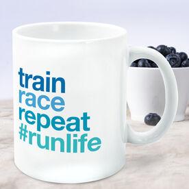Running Coffee Mug - Train Race Repeat