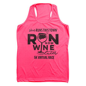 Women's Performance Tank Top - Run 5K Wine Later SRTT Edition